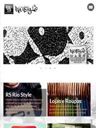Tela no iMac do site RS Rio Style