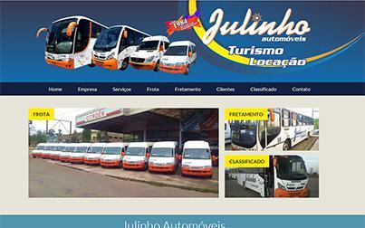 Tela no iMac do site Julinho Automóveis